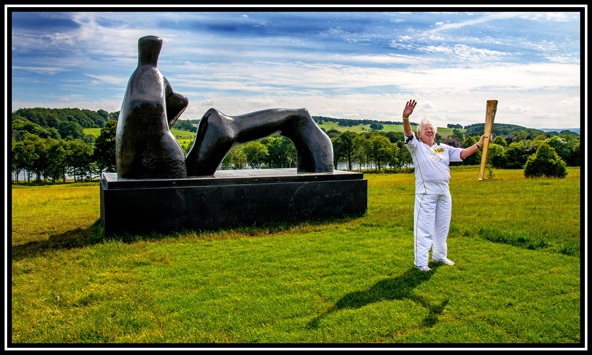 Olympic Torch relay, Yorkshire Sculpture Park